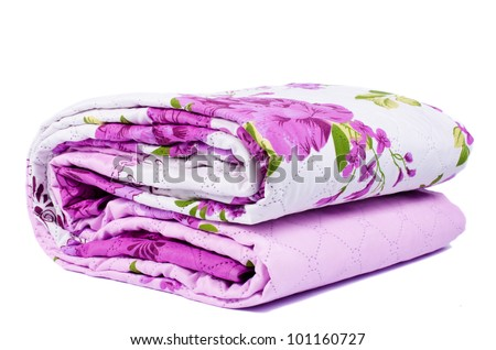 Bed sheets isolated - stock photo