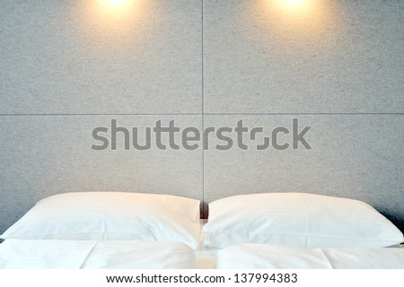 Bedroom detail, stylish and modern design - stock photo