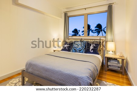 Bedroom in Contemporary Home, Interior Design   - stock photo