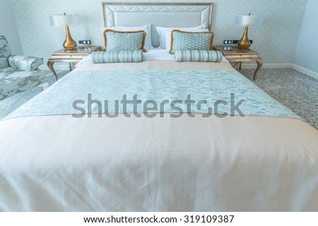 Bedroom room in modern style - stock photo