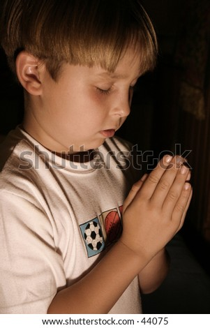 Bedtime prayer (tungsten) - stock photo