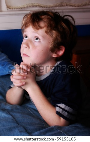 Bedtime prayers - stock photo