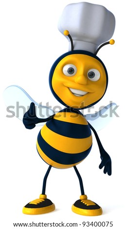 Bee chef - stock photo