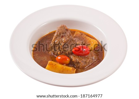 Beef curry spicy. - stock photo