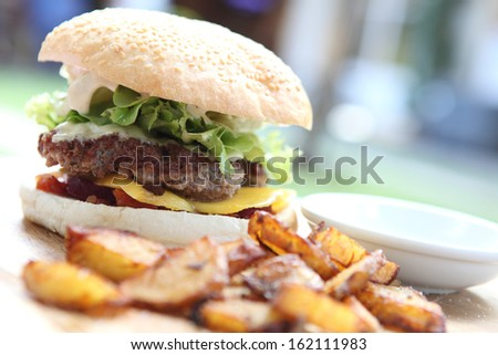 Beef Hamburger  - stock photo