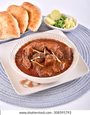 Beef Korma (Delicious Pakistani Traditional Cuisine) - stock photo