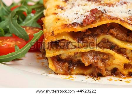 Beef lasagna - stock photo