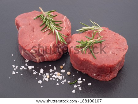 Beef medaillons - stock photo