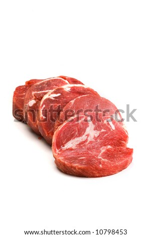 beef medalions with papper - stock photo