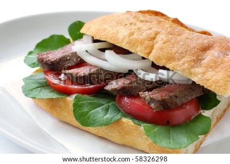 Beef Sandwich - stock photo