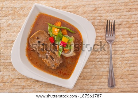Beef satay. - stock photo