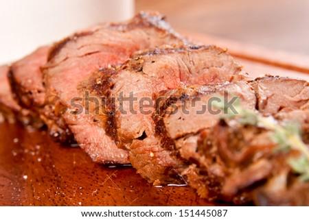 Beef sliced - stock photo