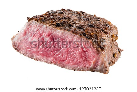 Beef steak isolated on white background - stock photo