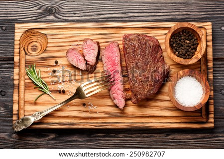 beef steak medium - stock photo