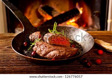 beef steaks - stock photo