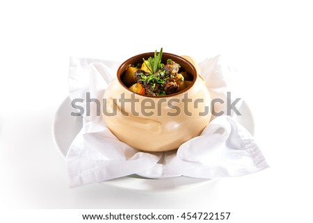 Beef Stew with Carrots and Potatoes - stock photo