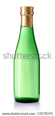 beer bottle japan style isolated - stock photo