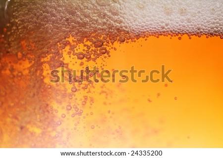 Beer bubble - stock photo