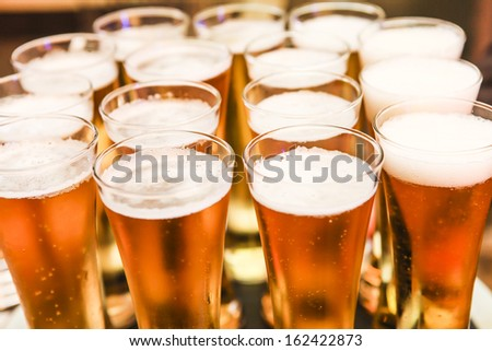 Beer bubbles. - stock photo