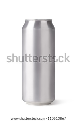 beer can isolated on a white background - stock photo