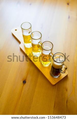 Beer Flight - stock photo