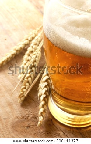 Beer fresh served - stock photo