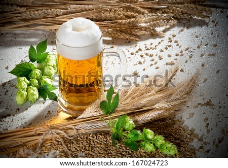 Beer Glass - stock photo