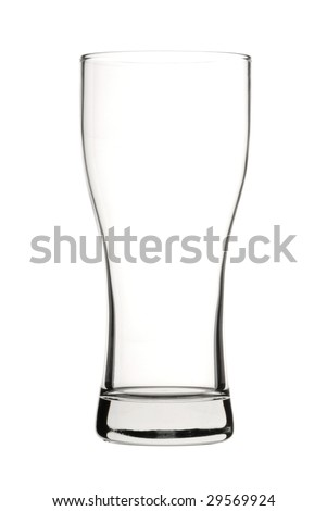 Beer Glass Isolated - stock photo