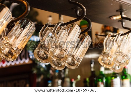 beer glasses - stock photo