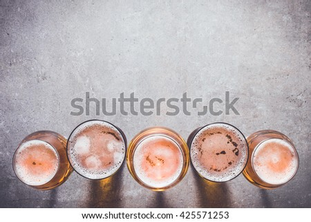 Beer glasses - stock photo