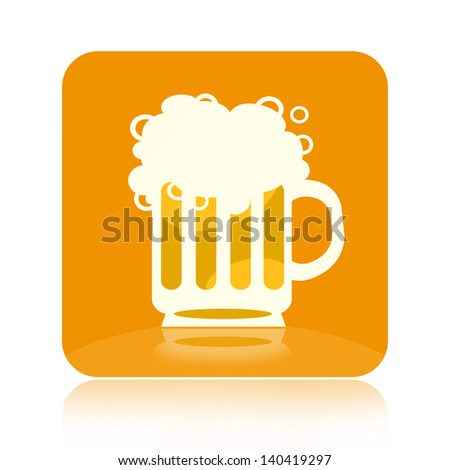 Beer icon - stock photo