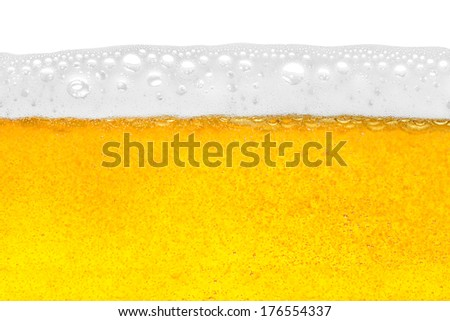 beer in close-up shot - stock photo