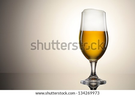 Beer in the glass - stock photo