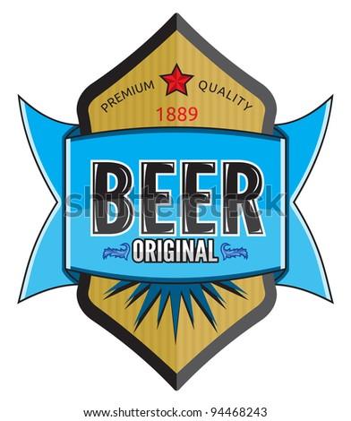 Beer label design - stock photo