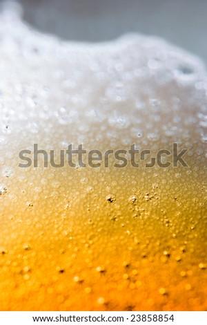 beer macro background - stock photo
