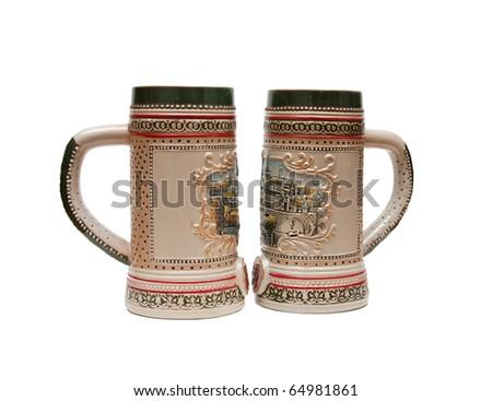 Beer mugs - stock photo