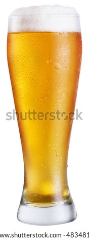 Beer; Objects on white background - stock photo