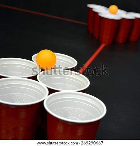 Beer Pong - stock photo