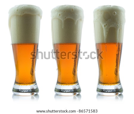 Beer Pours - stock photo