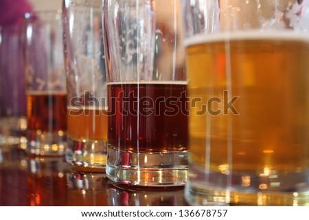 Beer Sampling - stock photo