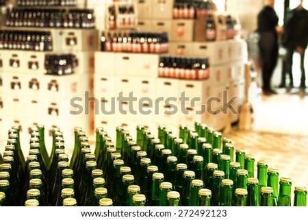 Beer shop - stock photo