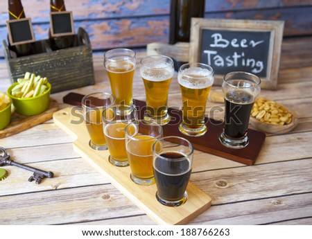 Beer Tasting - stock photo