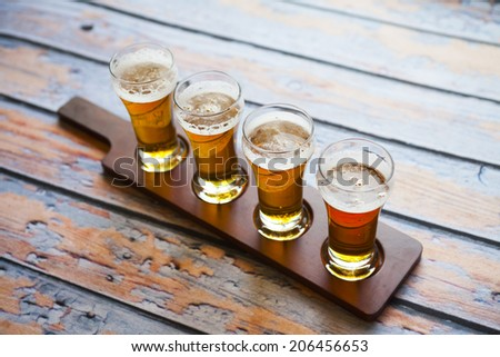 Beer Tasting - stock photo