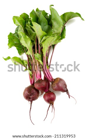 beet isolated - stock photo