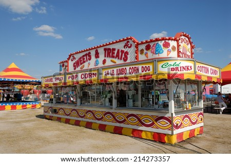 BEEVILLE, USA - OCT 19: Amusement park in Texas. October 19, 2008 in Beeville, Texas, USA - stock photo