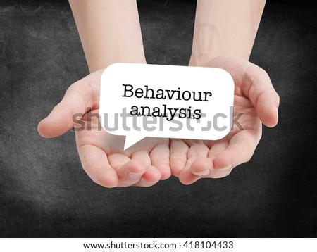 Behaviour analysis written on a speechbubble - stock photo