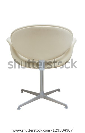 behind the chair isolated on white - stock photo