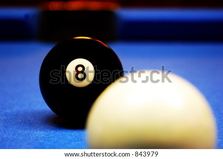 Behind the eight ball. - stock photo