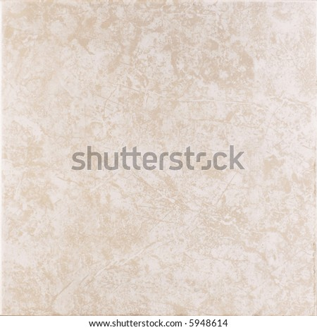 Beige ceramic tile with marble texture - stock photo