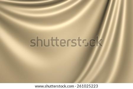 Beige Cloth Background - stock photo